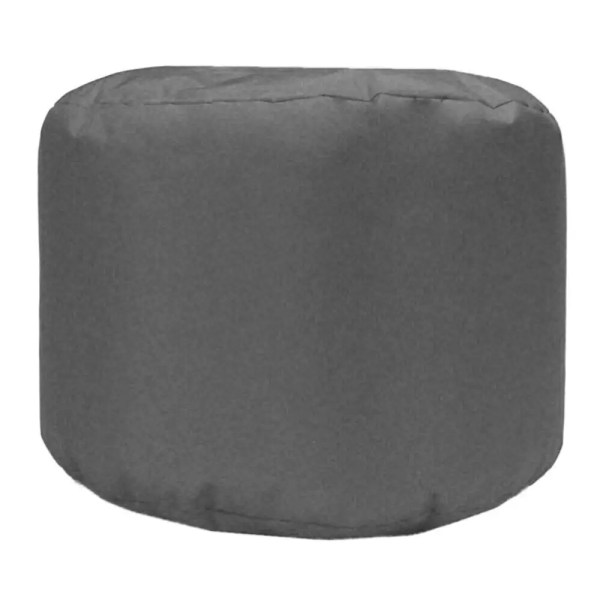 grey water resistant outdoor footstool pouffe