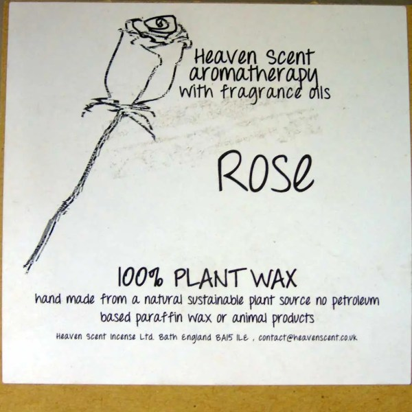 heaven scents rose natural wax candles