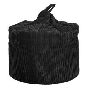 large black chunky cord beanbag