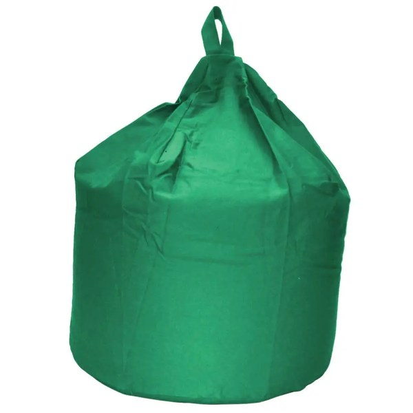 large green cotton drill beanbag