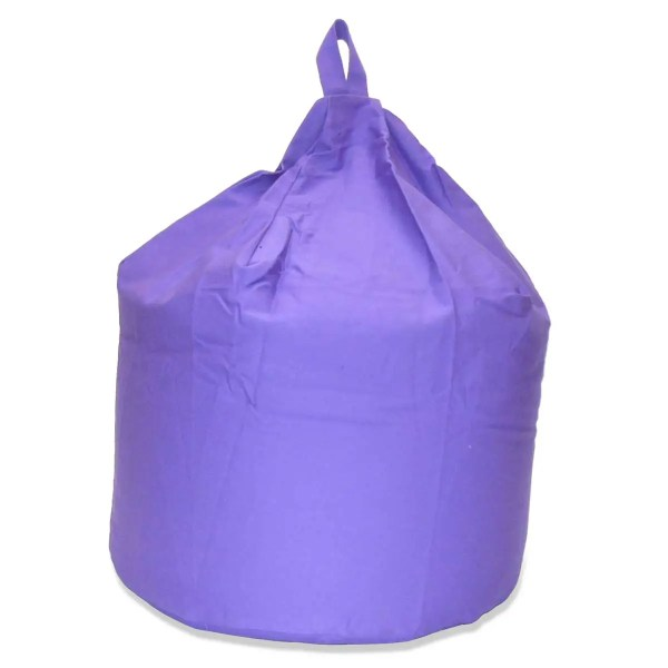 large lilac cotton drill beanbag