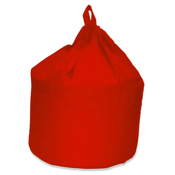 large red cotton drill beanbag