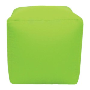 lime green water resistant cubes footstools