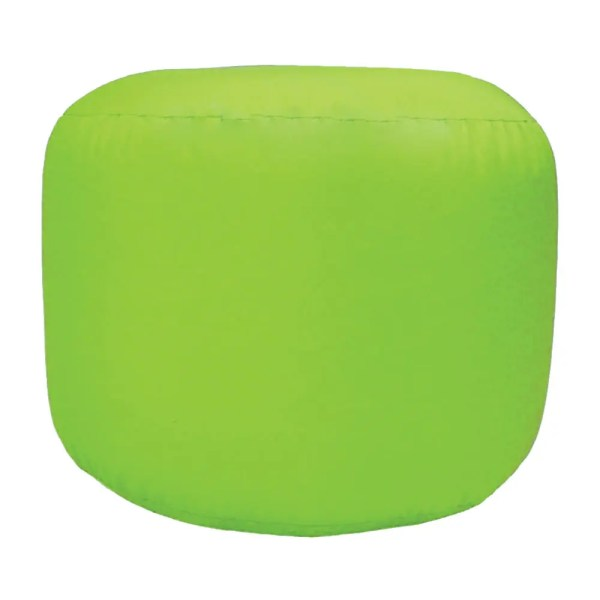 lime green water resistant outdoor footstool pouffe