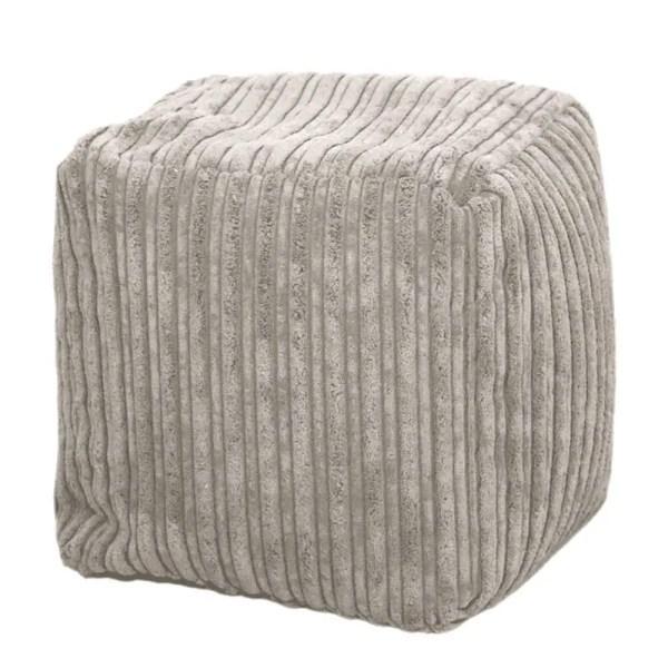 mink chunky cord pouffe footstool