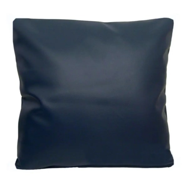 navy blue faux leather scatter cushion covers