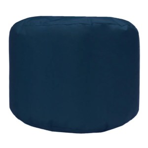 navy blue water resistant outdoor footstool pouffe