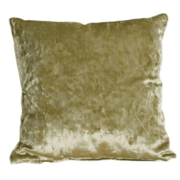 olive green crushed velvet fabric to order