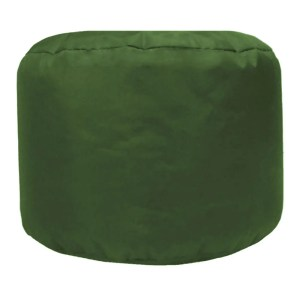 olive green water resistant outdoor footstool pouffe