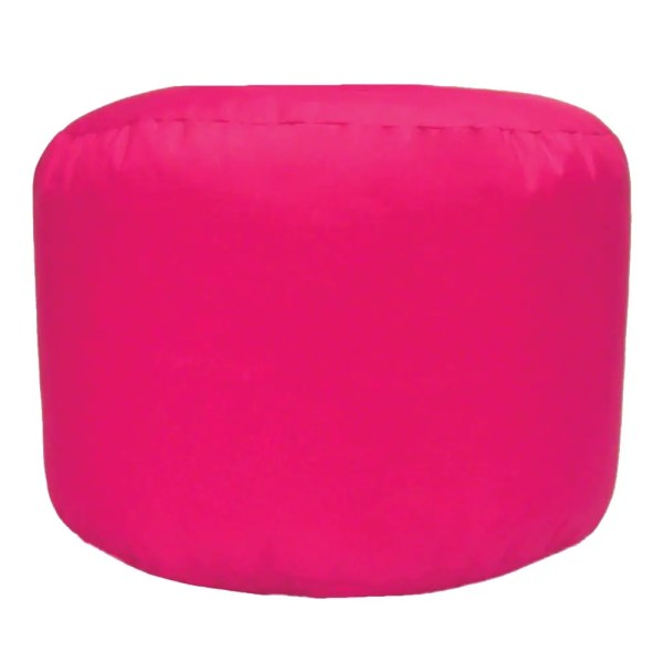 pink water resistant outdoor footstool pouffe