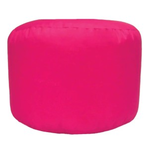 pink water resistant outdoor footstool pouffe