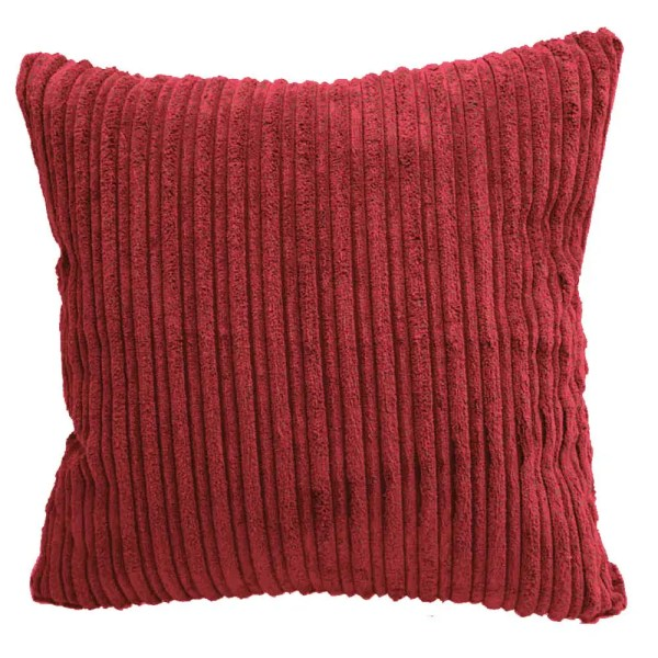 red chunky cord scatter cushions covers