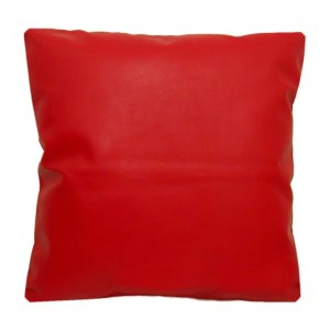 red faux leather scatter cushion covers