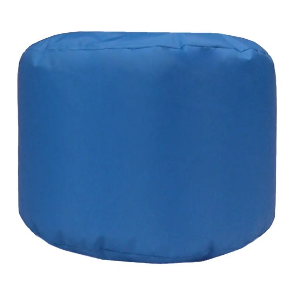 royal blue water resistant outdoor footstool pouffe