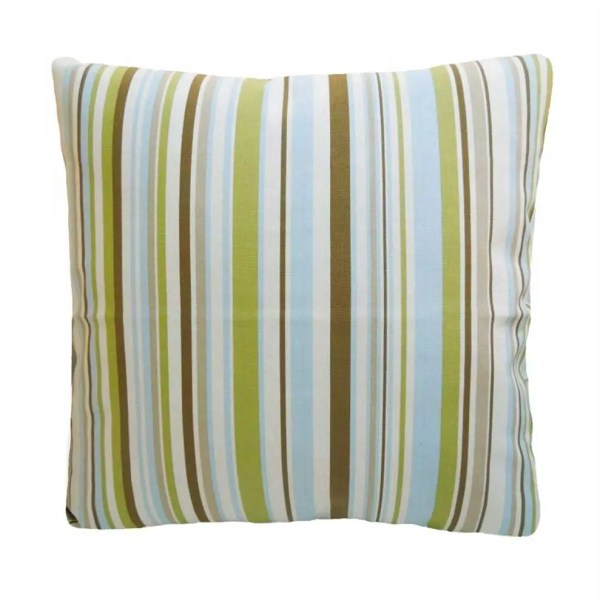 sky blue cotton striped goa scatter cushion