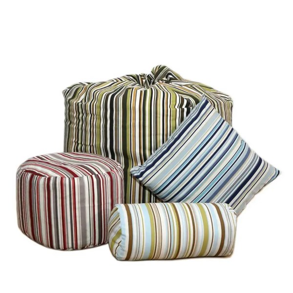 striped goa beanbags footstools