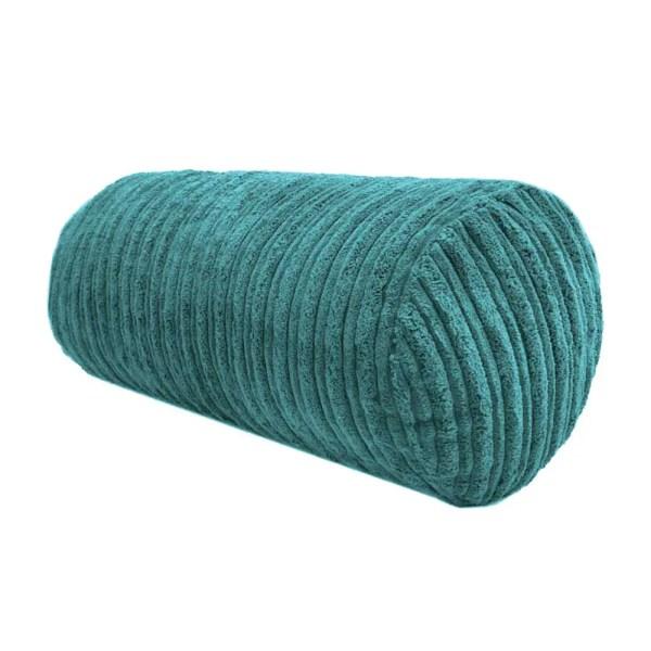 teal chunky cord cylinder bolster cushions
