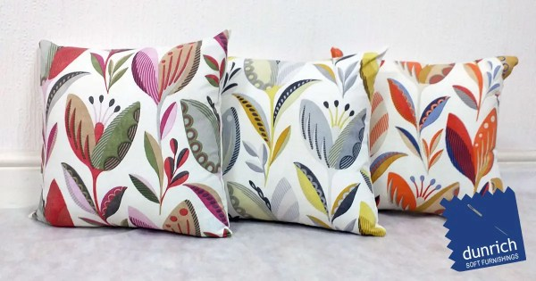 tulip pattern scatter cushion cover fb
