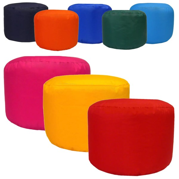 water resistant round outdoor footstools pouffes