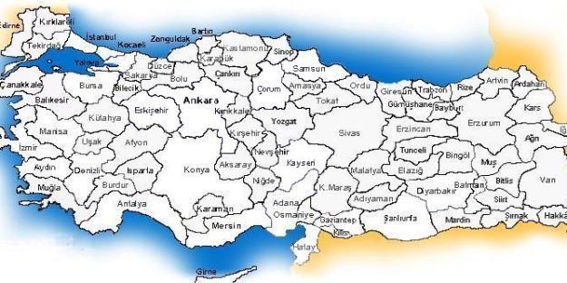 Turkiye Haritasi Plaka Boyama Boyama Sayfasi