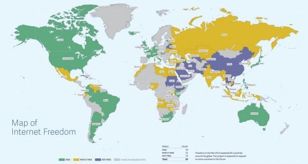 Freedom House İnternet Özgürlüğü Haritası