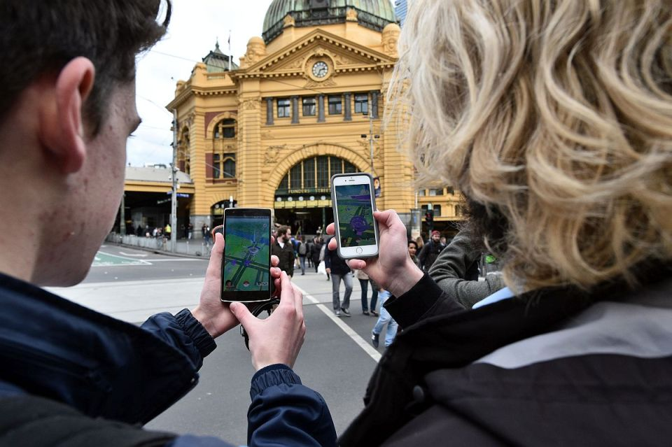 Pokemon Go game in Melbourne, Victoria