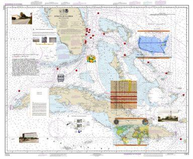 NSA tarafından dinlenen fiberoptik kabloların Miami, Florida'da karaya çıktığı noktaları gösteren belge
