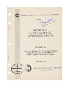 Apollo 11 yüzey keşif planları