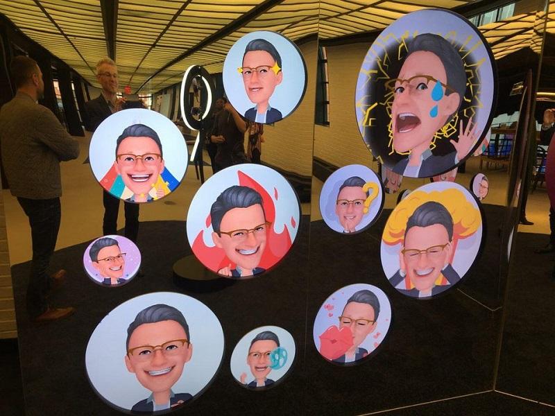 Samsung'un AR emojisi.