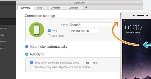 sync oppo with mac using syncmate