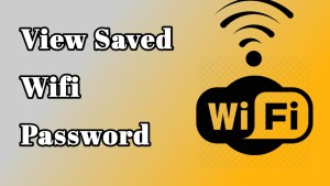 view saved wifi password iPhone