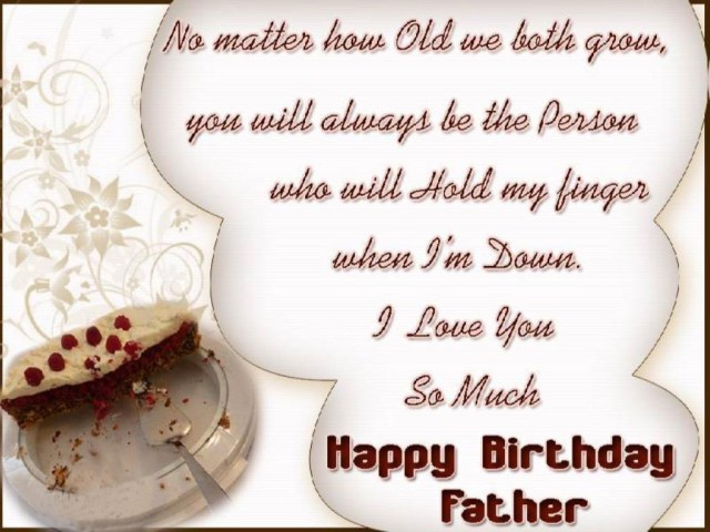 happy birthday message for father