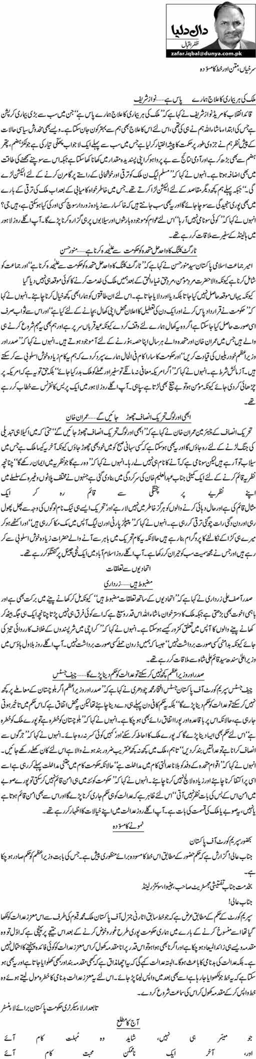 Surkhiyan, matan aur khat ka musawwidah - Zafar Iqbal