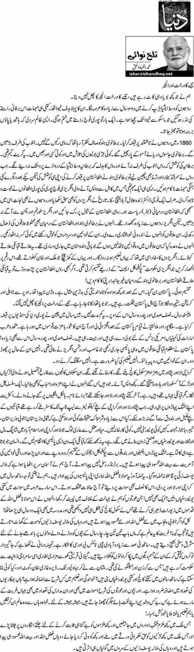 Tanmbay ka darakht aur anjeer - M. Izhar ul Haq