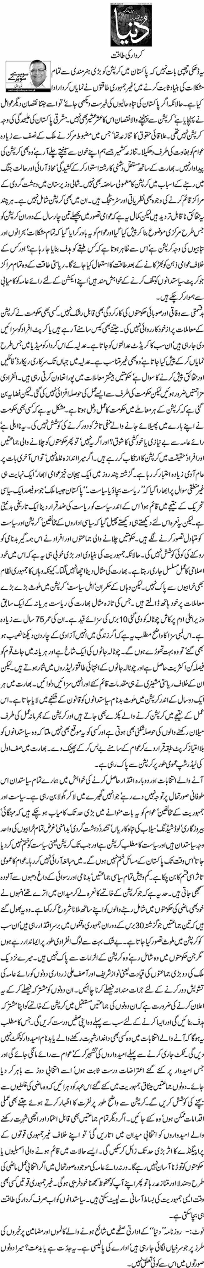Kirdaar ki taqat - Nazeer Naji