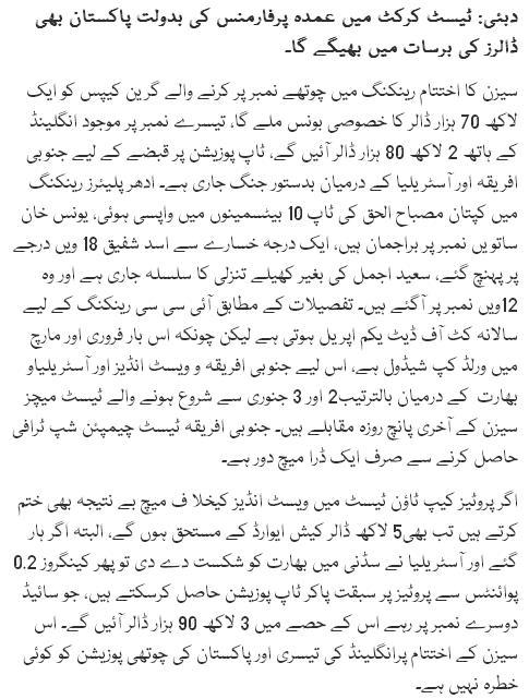 Umda Test Performance Par Pakistan Bhi Dollars Ki Barsat Main Bheegay Ga