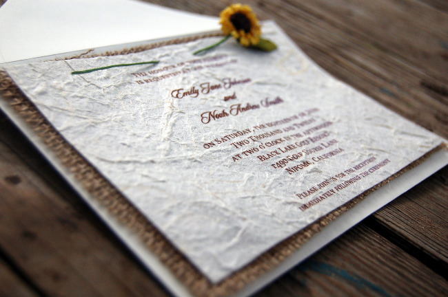 Burlap Wedding Invitations For A Attractive Invitation Design With Layout 2