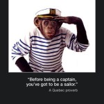 Picture of the week #51 : Before being a captain you've got to be a sailor