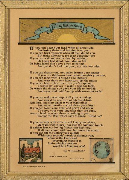 "House of Art Gift Motto - ""If"" by Rudyard Kipling"