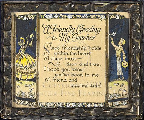 Pre-WWI Motto for Teacher