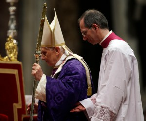 AP Photo Cardinal Angelo Scola, Archbishop of Milan, guides the pope in Milan, Italy on Tuesday. The resignation of Pope Benedict XVI opens the door to possible successors, from Scola to several Latin Americans.