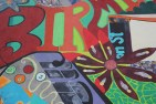 Aaron Warnick / Photo Editor - This mural is located at 2204 E Carson St. outside of Double Wide Grill.