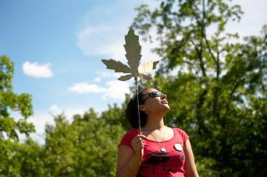 AP Photo. Julia Johnson, 21, demonstrates with the Pittsburgh chapter of the National Organization for the Reform of Marijuana Laws at Point State Park on May 25.