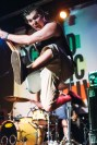 Joe Harbulak of the SpacePimps leaps in the air during the band's set.