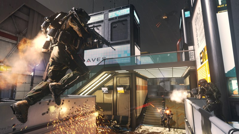"This photo courtesy of Activision shows a scene from the video game, ""Call of Duty: Advanced Warfare."" (AP Photo/Activision)"
