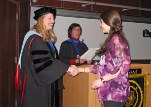 Courtesy Photo. Incoming members of Phi Kappa Phi are inducted at a ceremony in April.