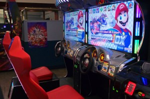 (Aaron Warnick/The Duquesne Duke) Mario Kart racing cabinets will feed the needs of any competitive gamers.