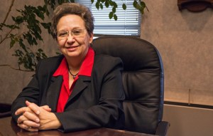 Photo by Claire Murray   Photo Editor. Linda Drago, vice president for legal affairs at Duquesne, sits in her office in Old Main. Drago announced her retirement last week after 22 years at the University.