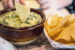 The spinach and artichoke dip was an excellent starter.