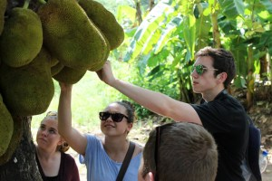 Photo courtesy of Duquesne public affairs. Student learn about the spice plants on Zanzibar.
